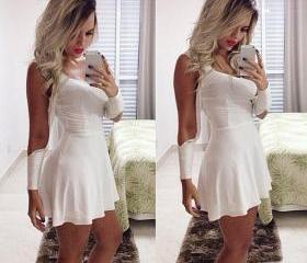 New Stylish Women's Ladies Off Shoulder Slim Fitting Sexy Cocktail Party Club White Dress